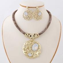Wholesale diamond studded dubai gold jewelry set