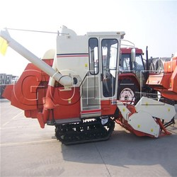 rice combine harvester able to supervise such key parts as rolling drum and fans