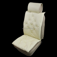 PVC leather ac dc seat cover beige