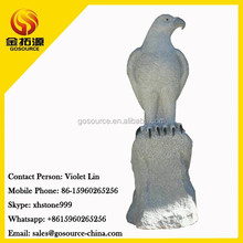 hand carved eagle statue for outdoor decoration