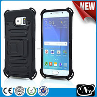 2015 China wholesale! hybrid rugged hard case cover for Samsung Galaxy S6 case 2 in1 armor cell phone case