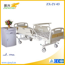 Two Cranks Hospital Patient Bed with ABS Side Rail and Silent Braking Castor