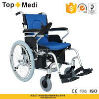new product TopMedi China Rehabilitation Therapy Supplies folding Aluminum handicapped power chair prices for disabled people