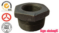 Galvanized thread beaded Malleable Iron Pipe Fitting Manufacturer 241 Bushing