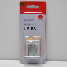 New Genuine Original LP-E8 LPE8 Camera Battery for Canon EOS 550D 600D Kiss X4 Rebel T3i T2i