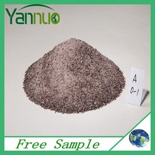 Section sand for fire resistant material with brown emery from ball grinder