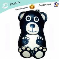 Cheap Genuine Leather Cute Cartoon Bear Animal Shape Money Coin Purse Child's Wallet