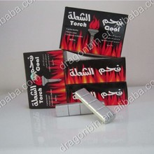 smokeless odorless torch coal for hookah, charcoal south america