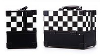 Brat-check pattern fashion PU leather cosmetic case with lock&key RZ-SC-032