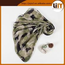 2015 fashion jacquard military camouflage scarf S5136-E
