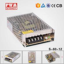 12V 5A 60W 110V-220V Lighting Transformers for led strip high quality safe Driver for LED strip 12v power supply led