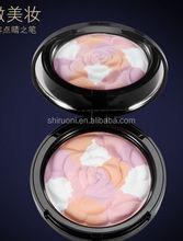2016 Hot sell! Rose flower powder foundation,blusher,custom brand