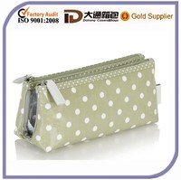 Custom Polka Dot Personalized Makeup Bags with Compartments