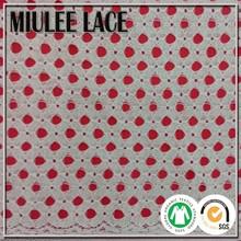 2015 NYLON COTTON pierced lace pattern Design Lace Fabric lady dress lace fabric Europe popular small circle small round pattern