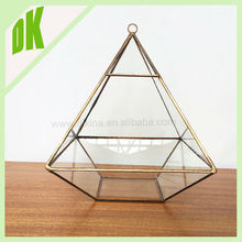Nature themed *** we would be happy to customize something for you ^-^ wholesale copper geometric glass diamond centrepieces