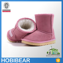 HOBIBEAR classic winter warm kids leather snow boots on sale