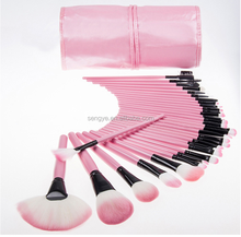 32 makeup brush, cosmetic brush, pink makeup brushes