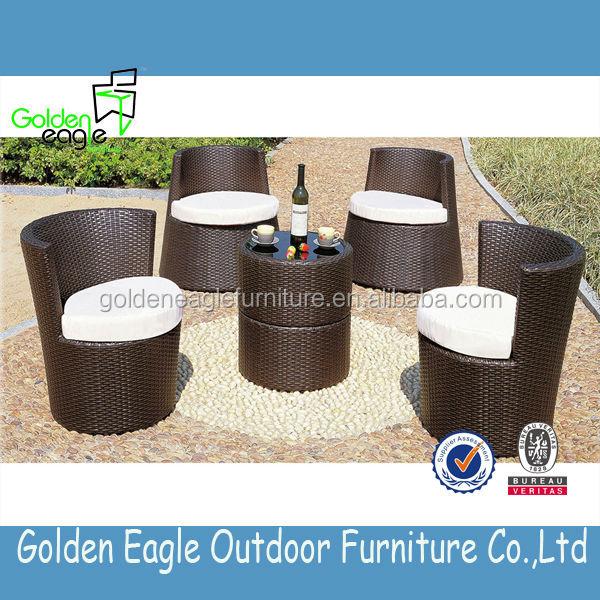 Outdoor Indoor Garden Rattan Wicker Aluminum Dining Set Royal Garden Patio Fu