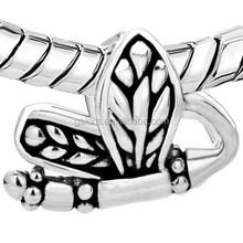 wholesale custom silver wing european beads.