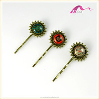new products fancy ladies vintage hair accessories metal hair clips