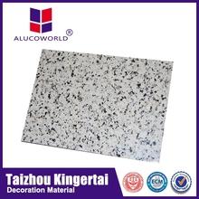 Alucoworld marble finish beautiful aluminum composite panel/beautiful stone look wall panelling walls panels