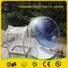 1.0mm thickness PVC inflatable bubble tent with photo insert, beautiful round inflatable transparent tent