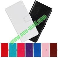 Crazy Horse Texture wallet Flip Leather case cover for lg g3 case D850