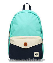 New canvas student school bag/school backpack for teenagers