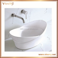 new sanitary ware sink above counter ceramic wash art basin