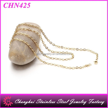 High Quality Stainless Steel Gold Plated Cross O Shape Chain