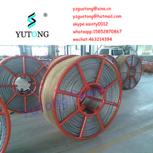 High strength anti twist drawing rope for underground line