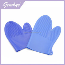 Blue Color Waterproof Heat Resistance Silicone Rubber Gloves For Kitchen