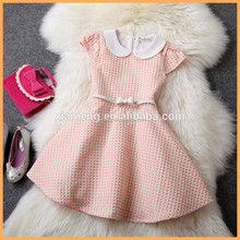 High quality and cheap price baby cotton frocks designs short sleeves girl casual dresses china alibaba