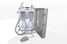 low price 6 holders portable dental suction unit