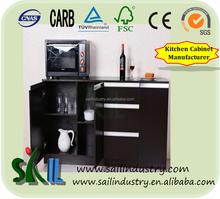 Vuelos baratos de China utilizado gabinete diseño del gabinete de cocina / cocina puerta del armario simple designs