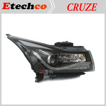 2009-14 year LED Chevrolet Cruze LED eyebrow Headlights Head Lamp with Bi Xenon Projector Lens with LED DRL