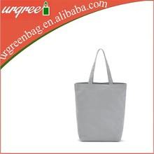 12 oz Grey Plain Blank Cotton Canvas Tote Bag Travel Bag