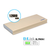 High Capacity 12000mAh Power Bank 2 Port Compact External Battery Charger with Smart IC charging Technology and LED display
