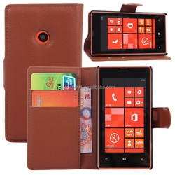 COW SKIN TEXTURE Soft Wallet Case Stand PU Leather Case For MICROSOFT LUMIA 520 FOR NOKIA 520 FLIP LEATHER CREDIT CARD CASE