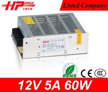 High quality Guangzhou switching power supply cctv camera 5 amp 12v mini size constant voltage led driver 60w