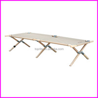 Military Camping Wooden Folding Cot