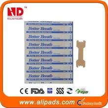 best sale super quality better sleep nasal strips/stop snoring nasal plaster ( producer )