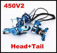 Align Trex 450 CNC Metal Main Rotor Head set + Tail Upgrade Trex Align 450SE 450V2 RC Helicopter Parts Assembled