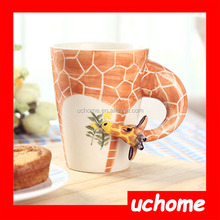 UCHOME New arrival animal design 3D ceramic mug / cartoon ceramic mug / 3d animal face mug