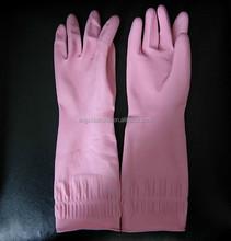 Dip or Spray Flocklined Household Latex Gloves