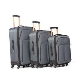 Six Rolling Wheels 1200D Polyester Polo Trolley Luggage