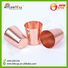 Copper Plating Stainless Steel Copper Cup Pint Copper Coffee Cup 2015 New Hot Item Brand Supplier