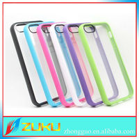 New brand tpu+pc crystal mobile back cover