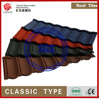 STONE COATED ROOFING TILE\ALUMINIUM ZINC\COLOURED SAND WAVED METAL ROOFING