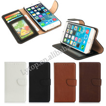 Classical leather wallet case for iphone 6, for apple iphone 6